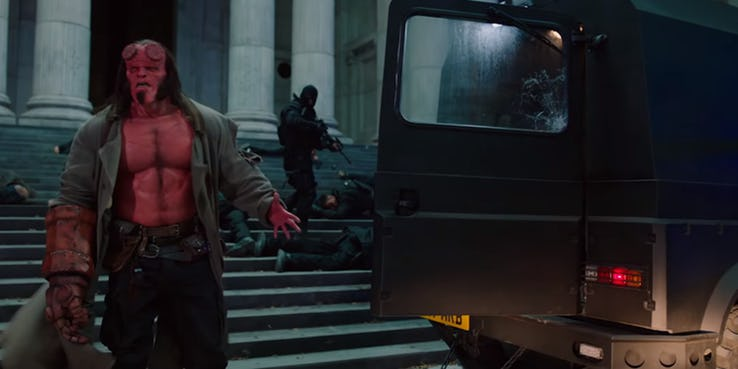 Hellboy-Nearly-Gets-Shot-By-His-Allies-Hellboy-2019