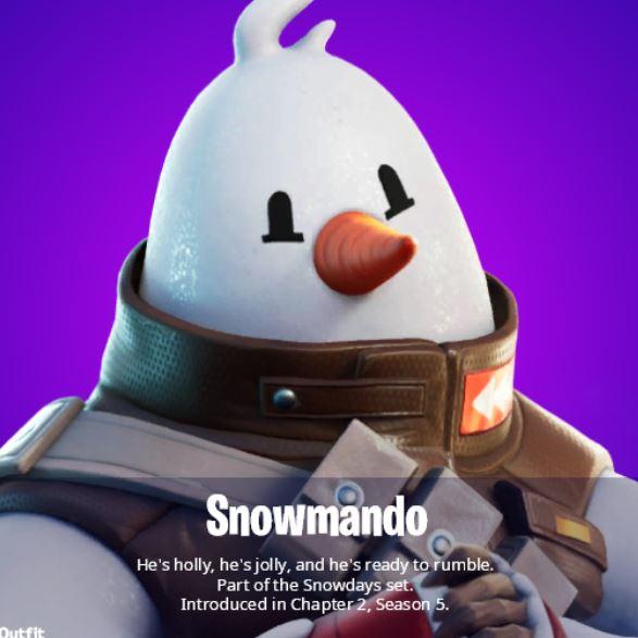 снеговик-скин