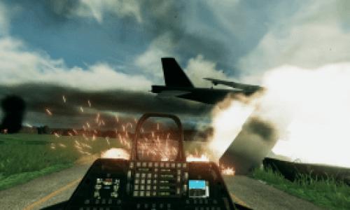 бой самолетов